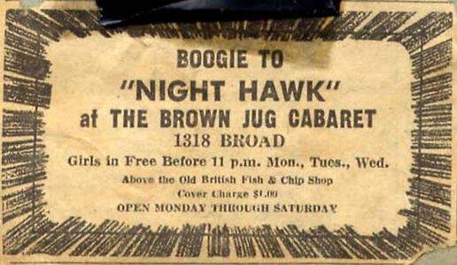 Photo- Brownjugnighthawk  -   Brown Jug Cabaret