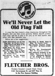 Photo- March 25 1916 Daily Colonist ad credit Lotus Johnson  -   Fletcher Brothers