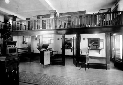 Photo- Fletcher Brothers Store, record demonstration rooms. 1110 Douglas Street, Victoria 1930\'s BC Archives D-07739  -   Fletcher Brothers