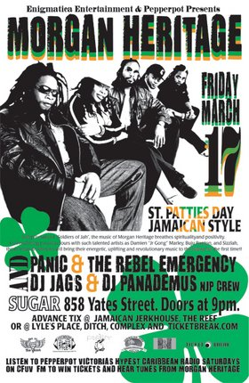 PEPPERPOT'S 4TH YEAR ANNIVERSARY/ST. PATTIES DAY BASH!!!: MORGAN HERITAGE, Panic & The Rebel Emergency, PEPPERPOT, NastyJag Sound @ Capital Ballroom Mar 17 2006 - Jan 26th @ Capital Ballroom