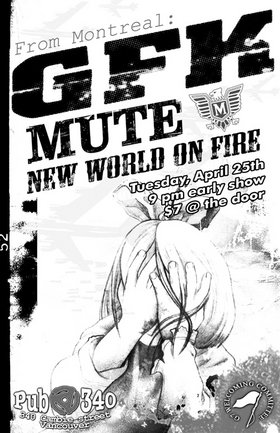 Montreal Metalcore: GFK, Mute, New World On Fire @ Pub 340 Apr 25 2006 - Oct 30th @ Pub 340