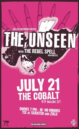 HELLCAT RECORDING ARTISTS: The Unseen, The Rebel Spell, The Excessives @ The Former Cobalt Jul 21 2006 - Aug 5th @ The Former Cobalt