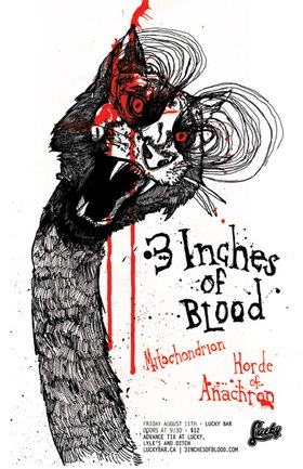 FULL METAL MAYHEM!!!: 3 Inches Of Blood, Mitochondrion, Horde Of Anachron @ Lucky Bar Aug 11 2006 - Feb 25th @ Lucky Bar