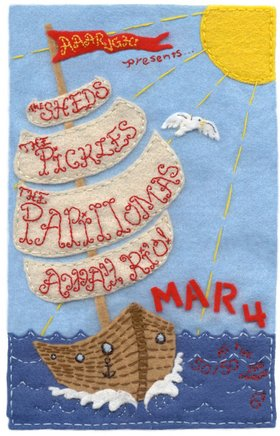 Papillomas, Away, Ri'o!, The Pickles, the Sheds - Sep 17th @ the fifty fifty arts collective