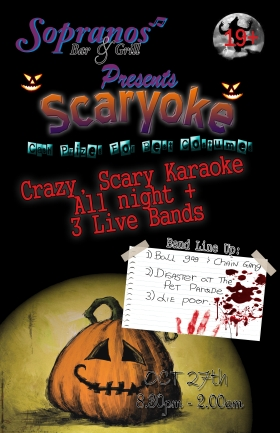 Halloween Blowout & Zombie-Walk afterparty: RKO, Ball Gag n' Chain Gang, Disaster at the Pet Parade, *** Zombie Walk After-party *** @ Soprano's Oct 27 2007 - Sep 27th @ Soprano's