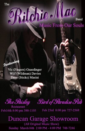 Home Grown Rocka Boogie: The Ritchie Mac Band @ The Paisley Restaurant Feb 16 2008 - Sep 27th @ The Paisley Restaurant