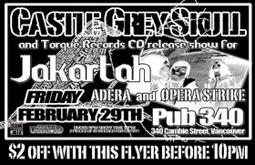 castle grey skull, jakartah, ADERA, Opera Strike @ Pub 340 Feb 29 2008 - Dec 1st @ Pub 340