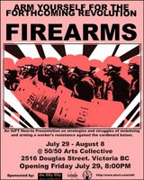 Fire Arms - Sep 25th @ the fifty fifty arts collective