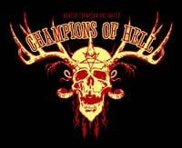 Champions of Hell - Skull Antlers Black Hoodie