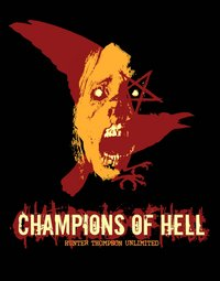 Champions of Hell - Crow Face Black Hoodie