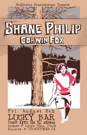SHANE PHILIP & CORWIN FOX TEAM UP AGAIN TO BRING YOU ROOTSY FUNKY SUMMER GOOD TIMES!: Shane Philip, Corwin Fox @ Lucky Bar Aug 8 2008 - Jan 26th @ Lucky Bar