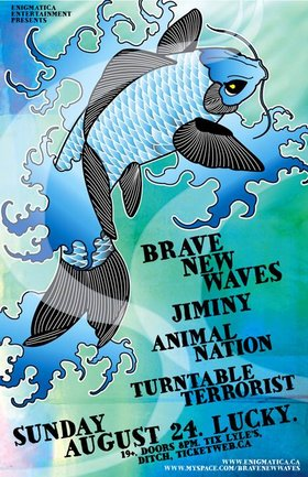 REGGAE/HIP HOP/FUNK/SOUL PAARTY!: Brave New Waves, Jiminy, Animal Nation, Turntable Terrorist @ Lucky Bar Aug 24 2008 - Jan 26th @ Lucky Bar